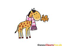 Clipart Zoo, Giraffe, Tier