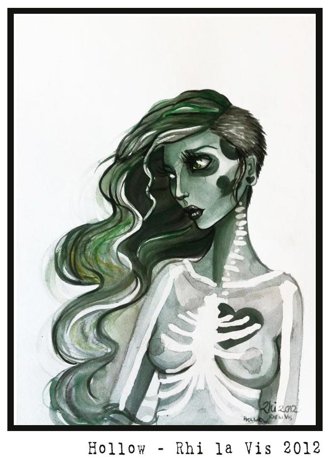 Hollow - Rhi la Vis 2012  Watercolours