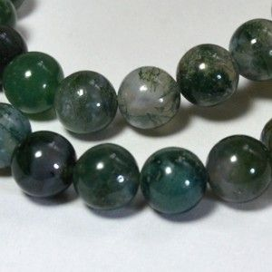 Moss agate is the most powerful of the agates that helps balance emotional energy. It helps the user to let go of anger and bitterness, so the emotions are balanced. When used in jewelry the moss agate is believed to bring the wearer health, friends and riches.    Moss agate enhances concentration, persistence, endurance and success in one's endeavors. It is an abundance stone.