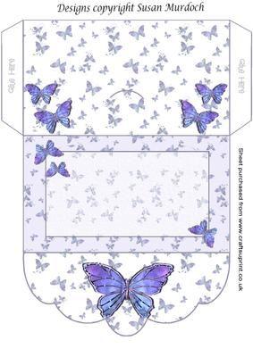 Wedding Gift Envelope Template : GIFT ENVELOPE MONEY WALLET BUTTERFLIES on Craftsuprint - Add To Basket ...