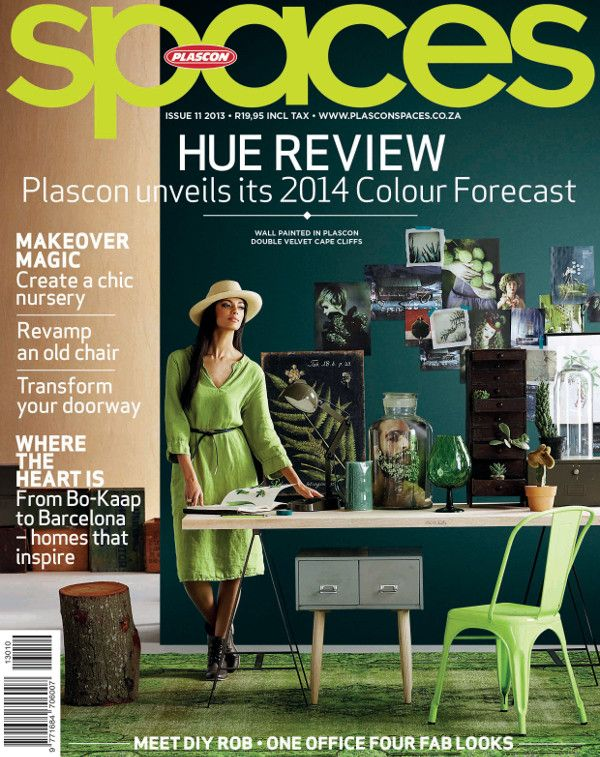 Cover of the 11th Plascon Spaces magazine, titled HUE REVIEW, where Plascon revealed its 2014 Colour Forecast.