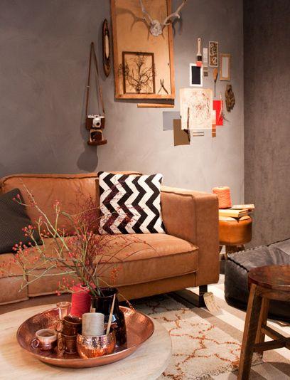 De 16 beste afbeeldingen over bank op pinterest thuis home deco en rodeo - Deco kleur muur decoratie ...