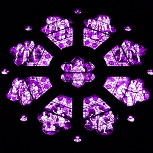 Stained Glass purple ceiling