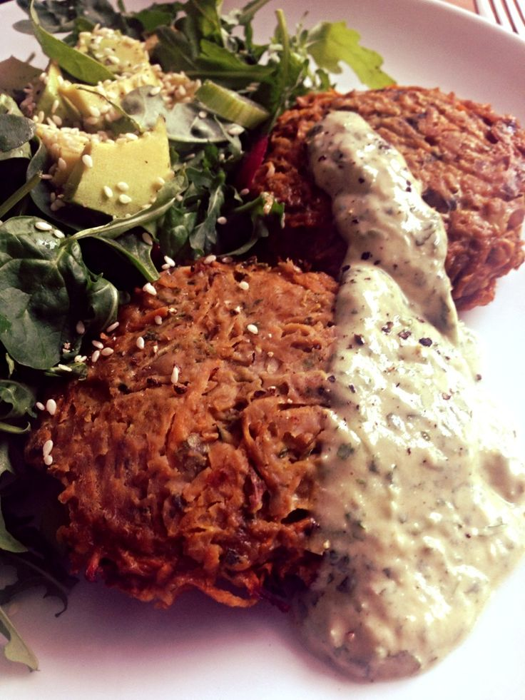 Spiced veggie burgers with a tahini lime sauce http://happysugarhabits.com/spiced-veggie-burgers-with-a-tahini-lime-sauce/