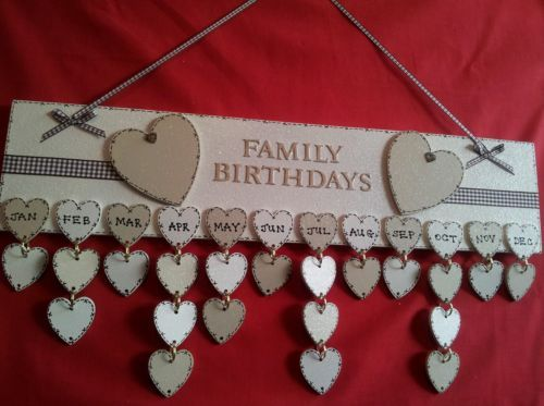 Stunning Family Friends Birthday Plaque Personalised with Everyones Date | eBay