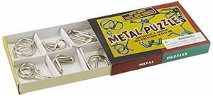 Retro Toys Metal Puzzles Set of 6