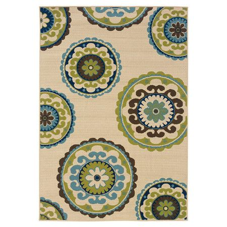 Found It At Wayfair Caspian Ivory Amp Green Rug For The