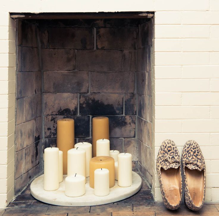 candles and fireplace