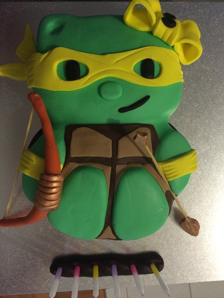 TMNT hybrid Kitty with bow and arrow as requested by Miss 6