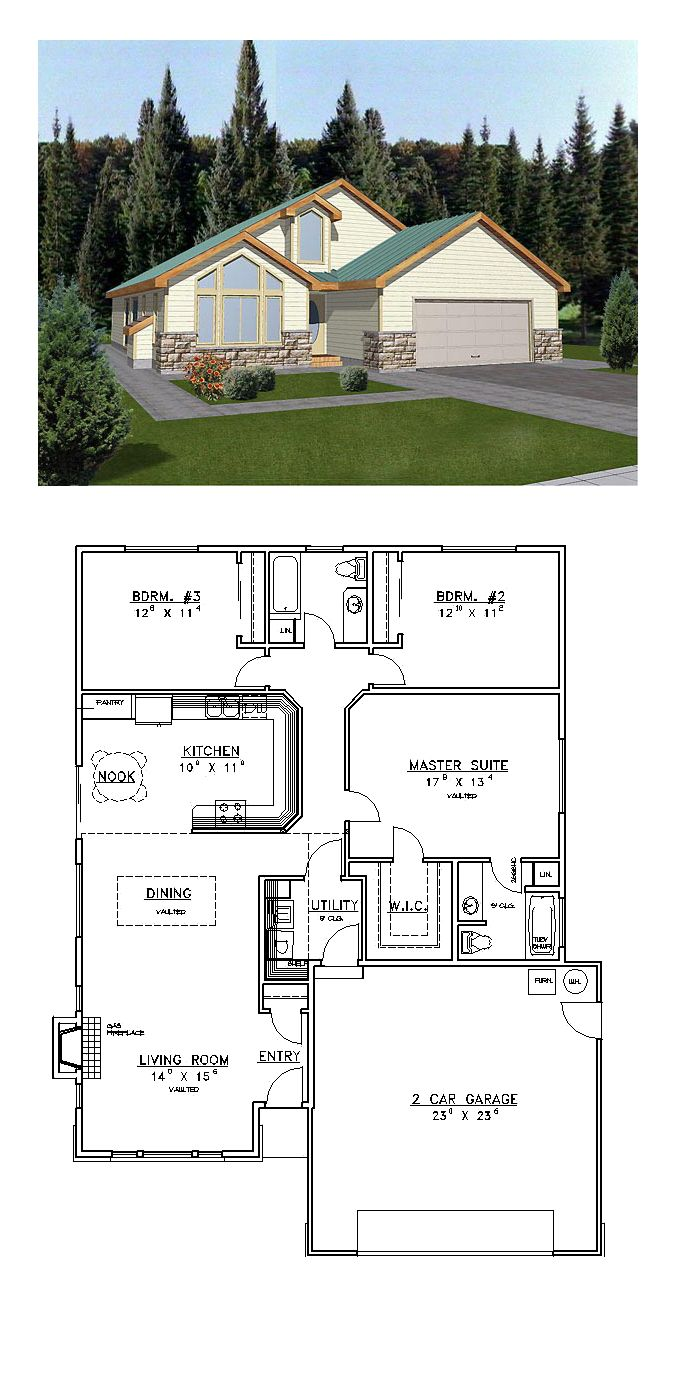 Saltbox House Plan 86737 | Total Living Area: 1659 sq. ft., 3 bedrooms and 2 bathrooms. #saltboxhome