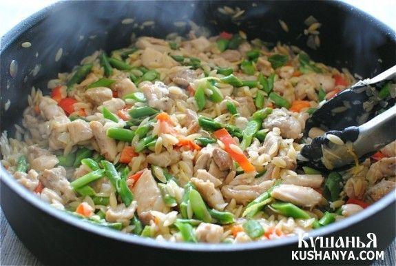 Ризотто с курицей и овощами - рецепт-статья с фото