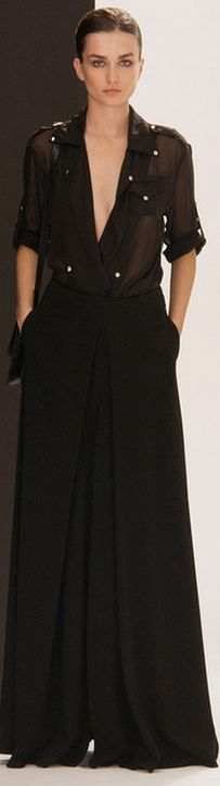 Pierre Balmain FALL 2013 RTW - simple--wear a camisole underneath...nude, or a color you like...but, all else is fab!