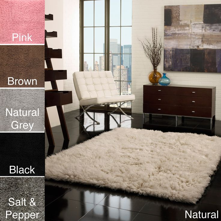 This Hand Woven Shag 5 X 7 Rug From NuLOOM Flokati Is Available In 11
