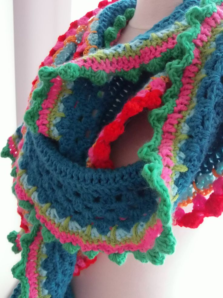 Sjaal ;) Gehaakt met Acryl garen