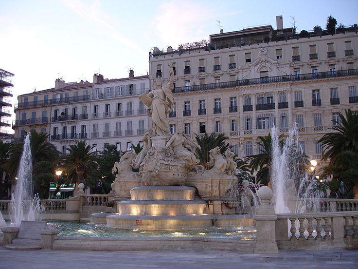 Toulon, place de la liberté-fontaine