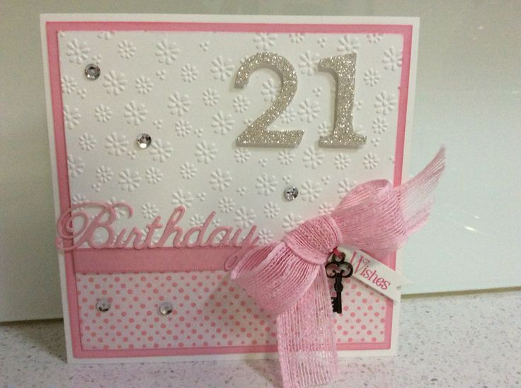 21st Birthday Card Making Ideas Part - 23: 21st Birthday Card More