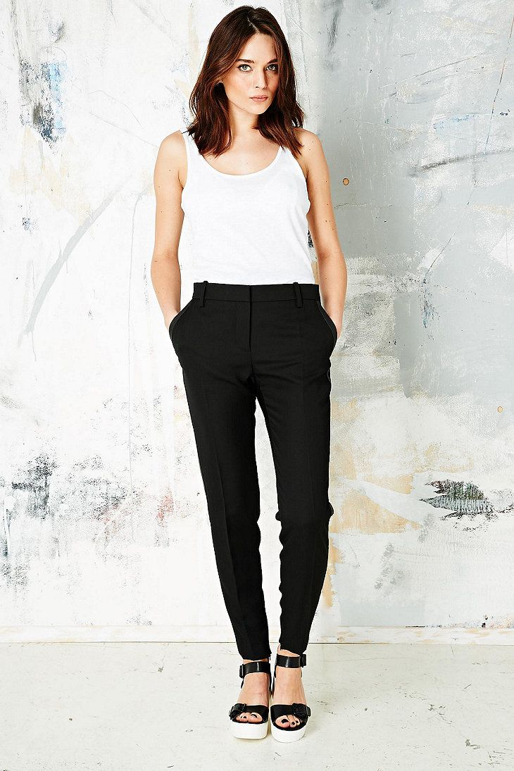 Iro Ankle Zip Tuxedo Trousers in Black