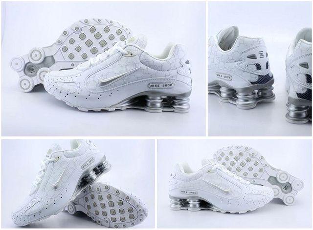 Mens Silver Nike Shox Monster Shoes 451853
