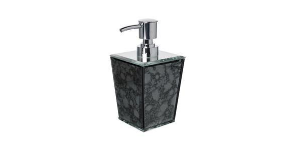 Glamour Soap Pump Dark Grey 8cmSqx16cmH
