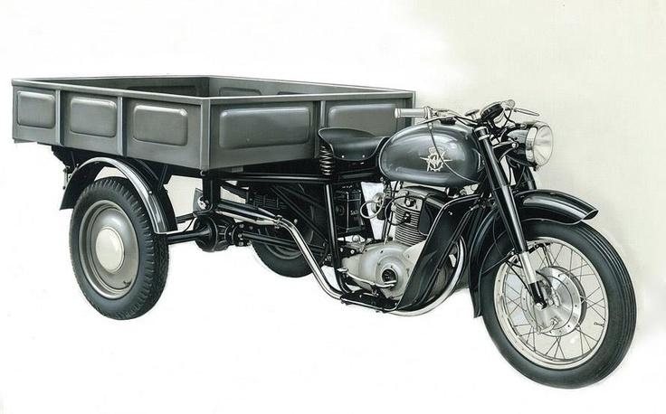 1954-1958 mv agusta 175 motocarro | heritage | pinterest | cafe