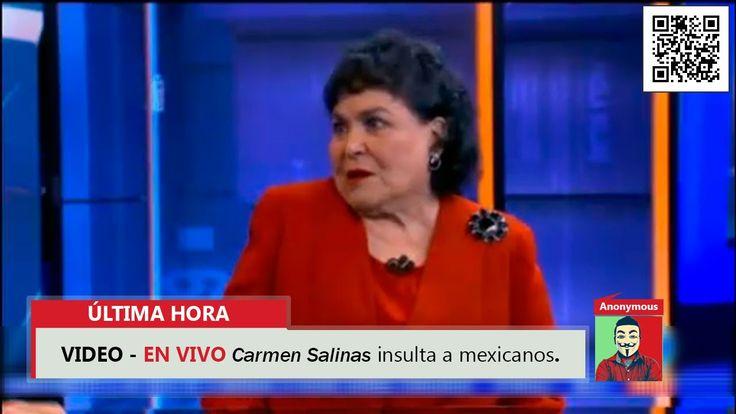 "EN VIVO Carmen Salinas insulta a los mexicanos ""Mugrosos"" 2016"