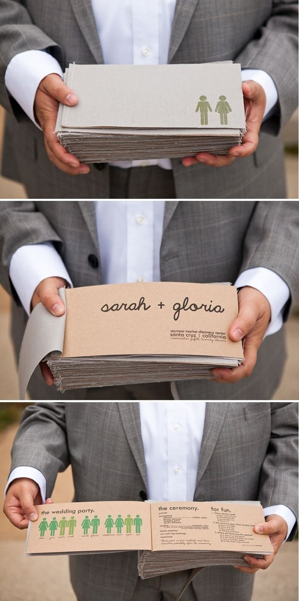 Wedding Programs Jayme we could so make these. Just get a small group together and go to town lol