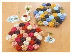 かぎ針編みのクッションカバー・座布団の無料編み図…