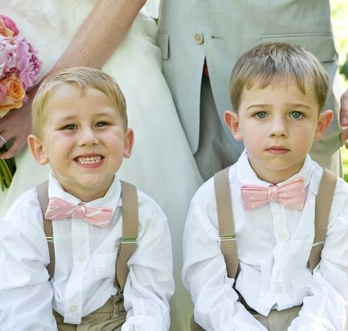 Love the bow ties and suspenders ring bearer ideas - Google Search