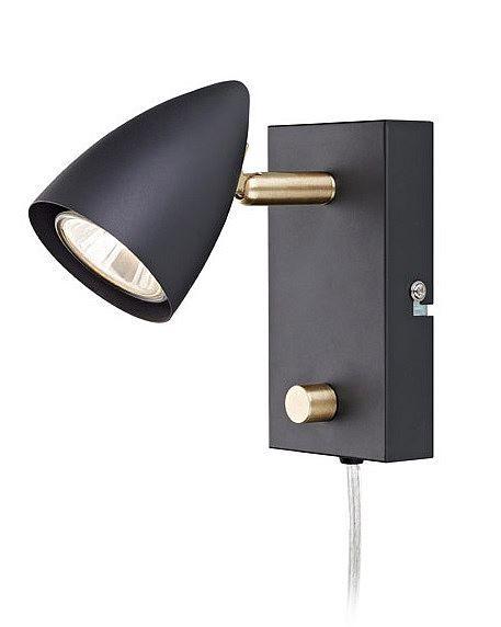 Svart sänglampa - Markslöjd 106318
