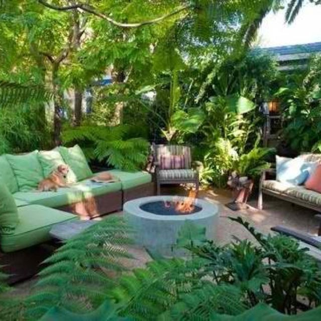 Tropical decor my new back yard my wonderful world of for How to landscape a small backyard