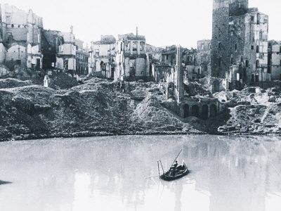Zone of Borgo S. Jacopo Destroyed by the Bombings, Florence Vincenzo Balocchi