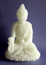 Schöne edle weiße Buddha Figur, 9 cm (B08)