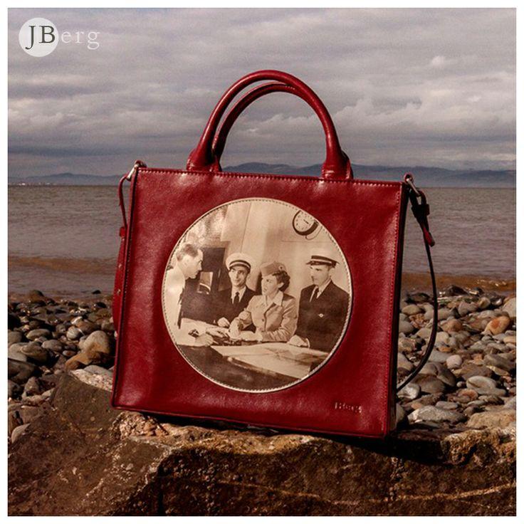 ~'Through the Porthole' Handbag in Canna Crimson~  purchase  at  www.JBergBags.com  €120.         Shipped worldwide
