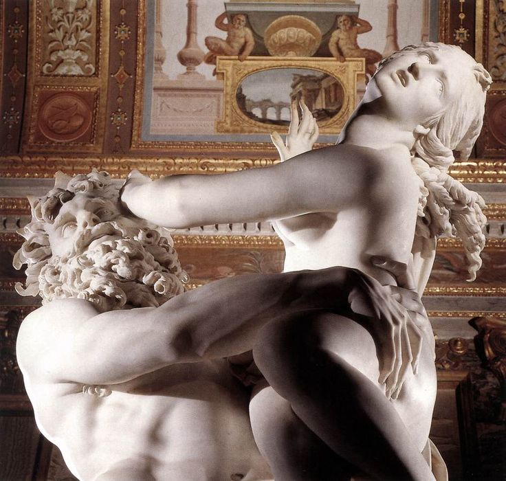 The Rape of Proserpina by Bernini-note how his fingers realistically dig into her thigh