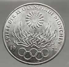 1972 Germany Munich Summer Olympic Games XX 10 Mark Silver Coin w Eagle i56711 https://trustedmedievalcoins.wordpress.com/2016/07/09/1972-germany-munich-summer-olympic-games-xx-10-mark-silver-coin-w-eagle-i56711/