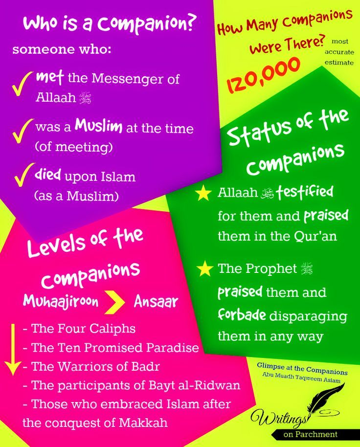 Who is a companion of the Prophet (sallallaahoe alayhi wasalam) ?