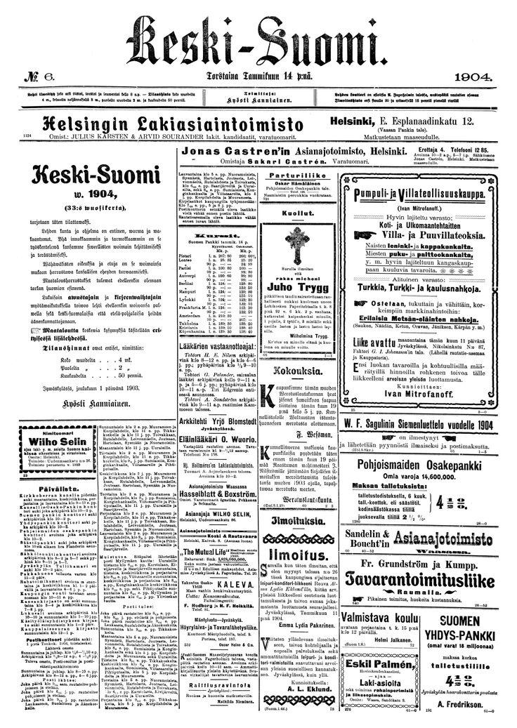 14.01.1904 Keski-Suomi no 6 - Sanomalehdet - Digitoidut aineistot - Kansalliskirjasto
