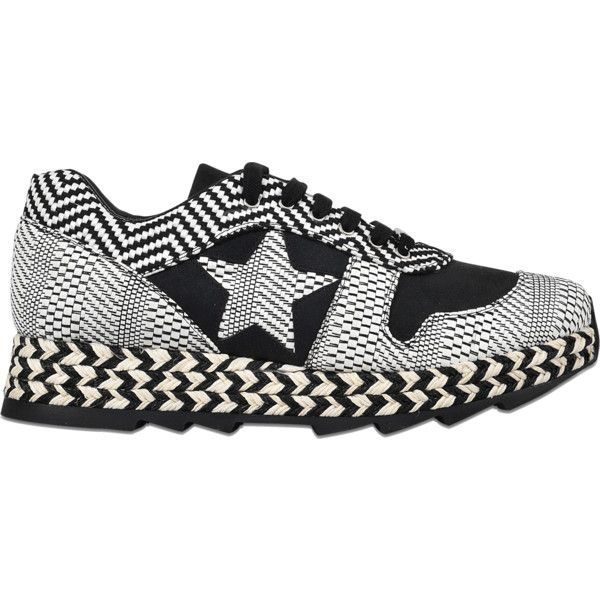 Stella McCartney Macy sneaker lace (5.340 ARS) ❤ liked on Polyvore featuring shoes, sneakers, black, kohl shoes, stella mccartney, stella mccartney sneakers, stella mccartney shoes and lace sneakers