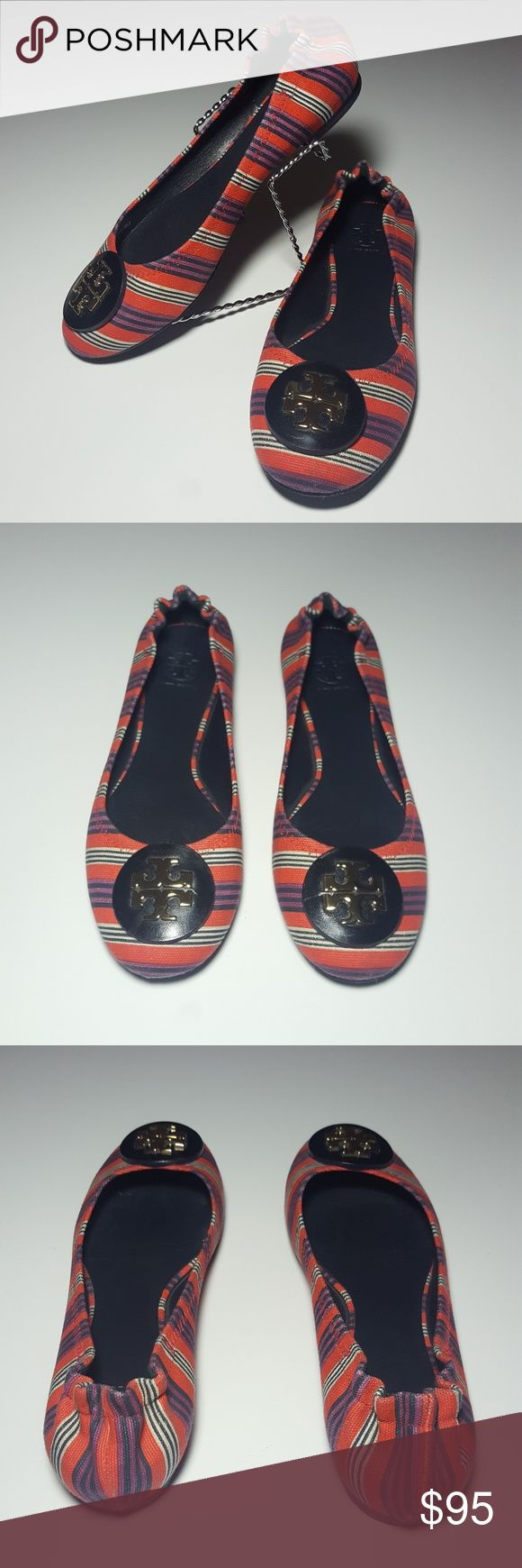 ♀ TORY BURCH womens REVA printed flats TORY BURCH REVA printed canvas flats  100% authentic, pre-owned  S/N: 11128003 Size: 8M Leather sole  The iconic Reva Ballet Flat, named after Tory's mother, is known for its timeless design and perfect fit. It features a signature logo medallion at the toe. Elastic around back ensures a secure, comfortable fit.  Check out my other Burberry, Zara, Nike, Under Armour, J Crew, Vince Camuto, TOPSHOP, Coach, Michael Kors, Forever 21, Kate Spade, and Lacoste…