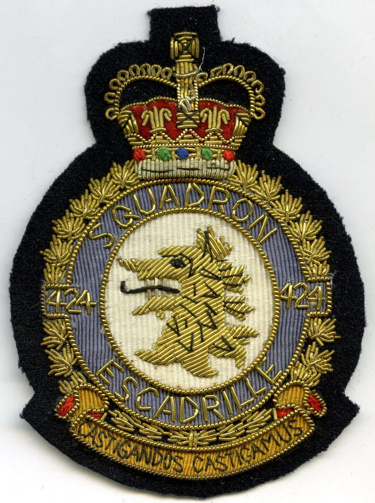 RCAF 424 Squadron (QC) Patch Patches, Canadian military