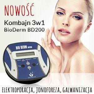 Nowy design. Kombajn 3w1 do jonoforezy,galwanizacji i elektroporacji. Terapia nadpotliwości,