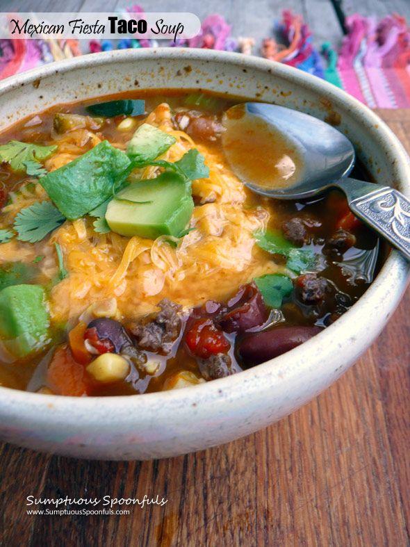 Mexican Fiesta Taco Soup