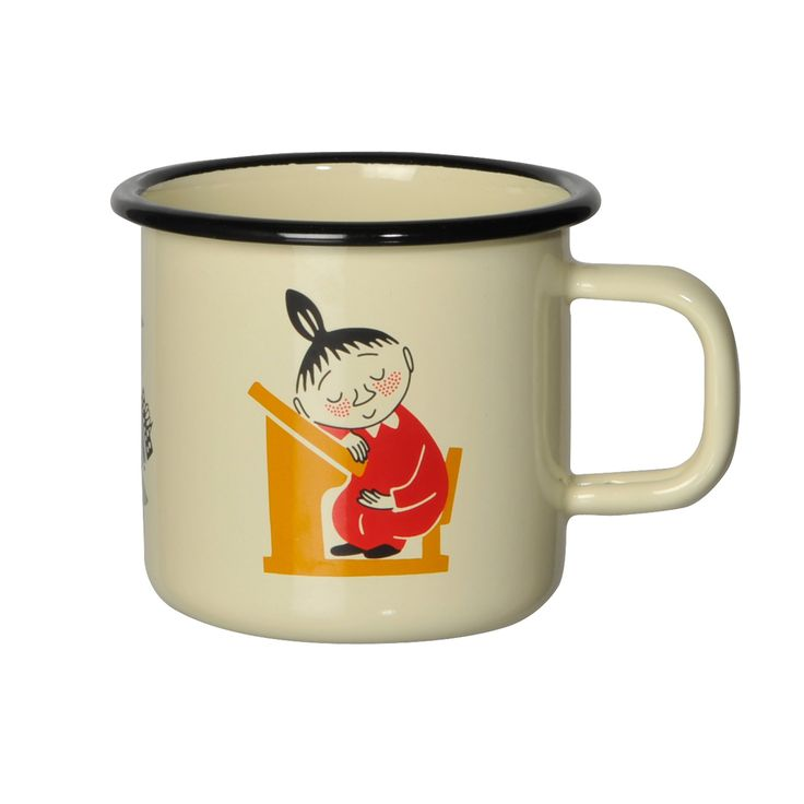 Moomin Retro 50's pattern enamel mug http://www.skandium.com/moomin-retro-50-s-pattern-enamel-mug