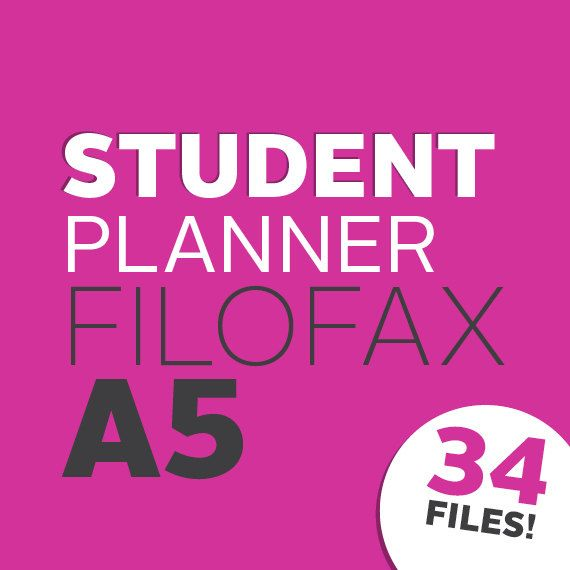 Academic Student Planner / Student Planning Kit by @whatshewas