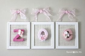 Repeat Crafter Me: Yarn Wrapped Letters for Baby's Room