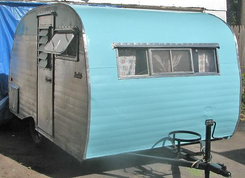Vintage Serro Scotty Sportsman Travel Trailer Camper Restored