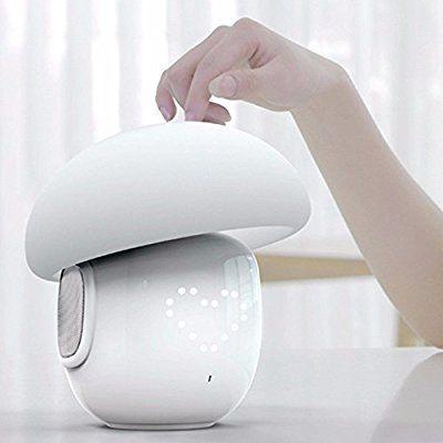 Bluetooth LED Lautsprecher, ELEGIANT 2-in-1 Multi-Funktion Led Lautsprecher Wireless boxen Musik Touch Lampe, Dimmbare Tischleuchte, Stimmungslicht, Nachtlicht,Farbwechsel Lampe, Musik Wecker , dimmbare RGB LED Touch control lampe RGB& LED Kinder Nachtlicht Modus, Musik Stimmungslicht Tischlampe, Zeituhr, TF-Karten-Musik Spielen, Schlafmodus AUX Modus für entspannten Musikgenuß mit 4000mAh Akku und App Steuerung für IOS Android-Handys und Tablets und andere Bluetooth Geräte