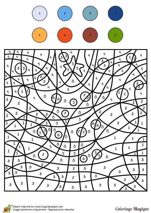 Coloriages coloriage magique cm1 sapin de noel