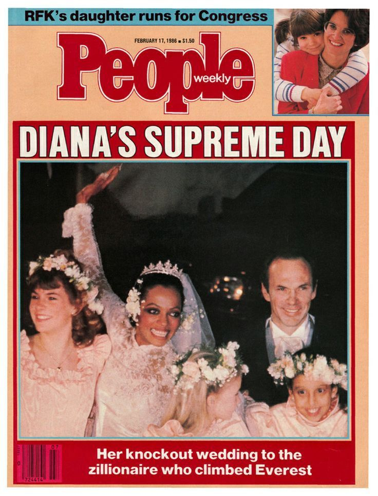 diana ross married arne naess | February 17, 1986 — Diana Ross' marriage to Arne Naess Jr.