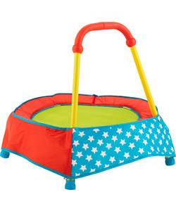 Chad Valley Toddler Trampoline Primary Brights.